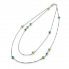 Long Chain with Blue Topaz and Peridot