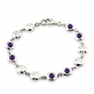 Ripple Bracelet with Amethyst