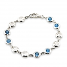 Ripple Bracelet with Blue Topaz
