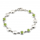 Ripple Bracelet with Peridot