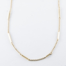 Necklace (Bar Stations in VERMEIL) .925 Sterling Silver