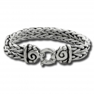 Double Chain Bracelet with Swirl