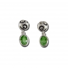 Swirl Drop Earrings with Peridot
