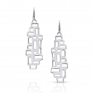 Earring (Long Ventana Drops) .925 Sterling Silver