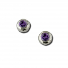Ripple Stud with Amethyst