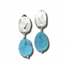 Riverstone Double Drops with Turquoise