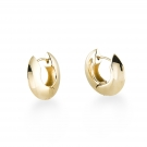 Earring (Flat Snap Hoop) 14K Gold