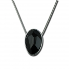 Oval Faceted Onyx Pendant