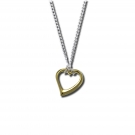 Open Heart Pendant in 18K