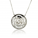 Pendant (Round Lace Swirl) .925 Sterling Silver