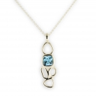 Touchstone Pendant with Blue Topaz