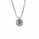 Rain Pendant with Blue Topaz