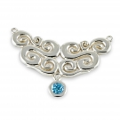 Pendant (Seville With Blue Topaz) .925 Sterling Silver