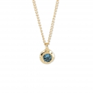 Ripple Pendant with Blue Topaz