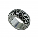 Mens Mosaic Band Ring