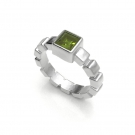 Ice Cube Ring with Peridot